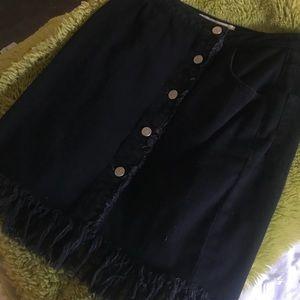 Anthropologie Black denim skirt